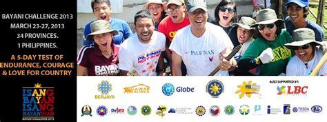 bayani challenge gawad kalinga bayani challenge march 23 27 2013
