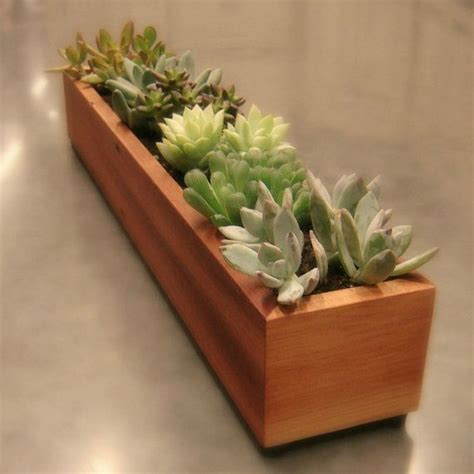 succulent planter box long window box succulent planter in reclaimed cedar