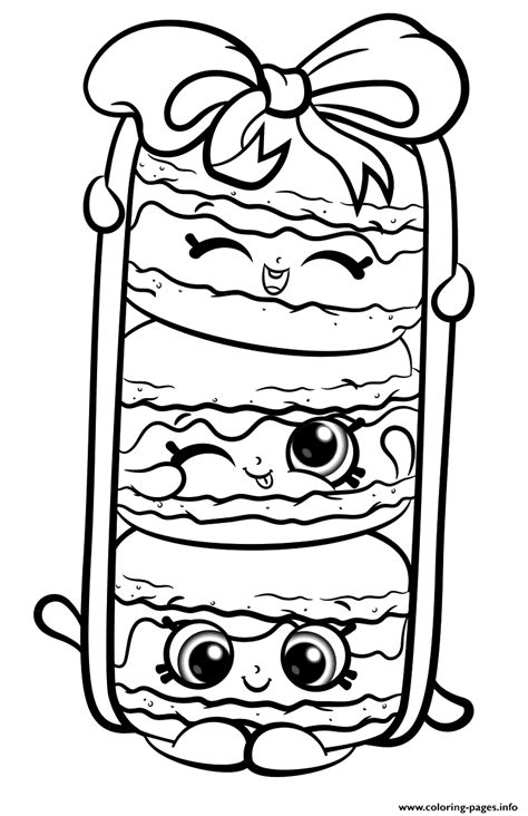 Shopkins Season 8 Coloring Pages by Stack Le Macarons From Shopkins Season 8 Coloring Pages