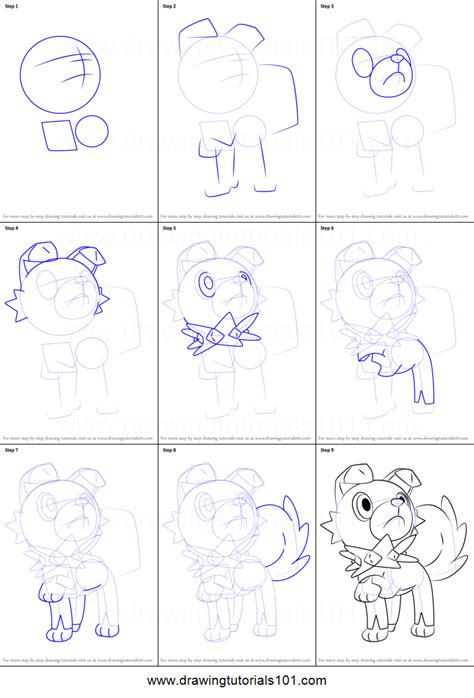 how to draw rockruff from pokemon sun and moon printable