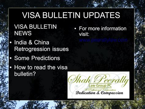Visa Newsletter Visa Bulletin The Visa Bulletin Explainedsan Francisco Immigration Attorney Bay Area H1b Visa