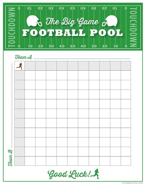 football pool template download free premium templates