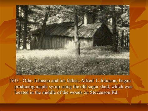 history  johnson maple syrup