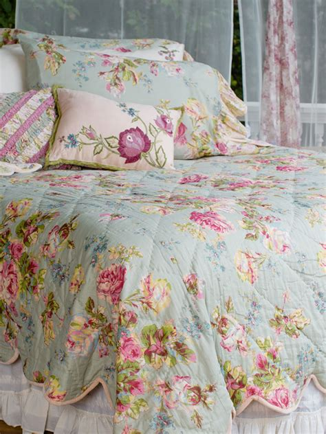 april cornell bedding victorian rose quilt sage your home quilts throws