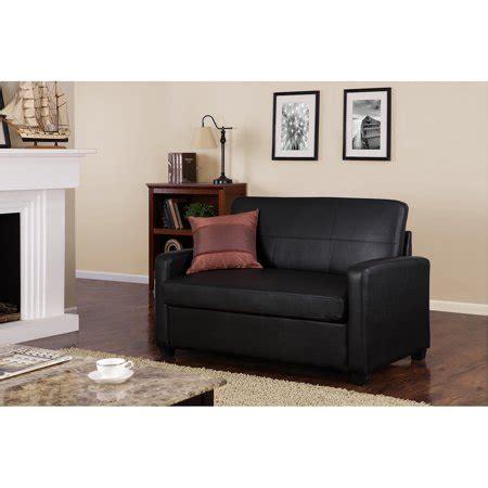 mainstays sofa sleeper black faux leather walmart