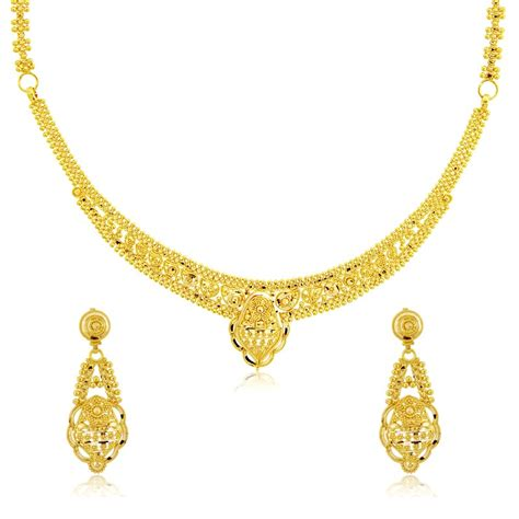 and jewelry 22 k yellow gold necklace set