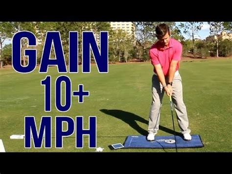 golf swing data add 10 mph to your golf swing real data provided youtube