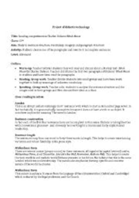 charles dickens biography reading comprehension english teaching worksheets charles dickens
