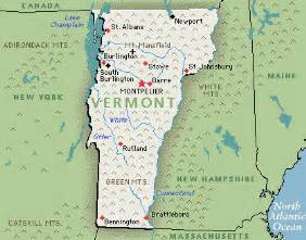 vermont map and vermont satellite image