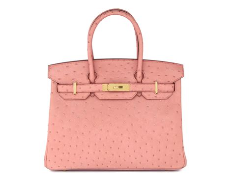 Hb Luxury Ostrich Leather Ghw Charms 25cm Bags 84123 Hermes Handbag In Malaysia 900