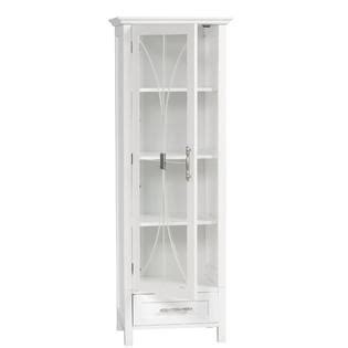 home delaney linen cabinet with 1 drawer and 3