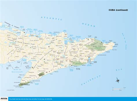 map of usa and cuba maps of cuba and printable travel maps from moon