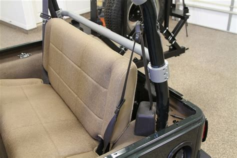 jeep tj rear seats rock 4x4 rear seat harness bar for jeep wrangler tj