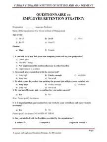 customer retention plan template employee retention strategy questionnaire