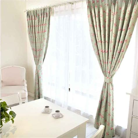 pale green curtains casual flower and light green blackout curtains