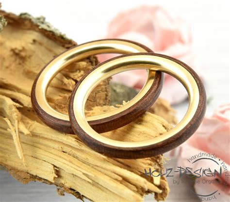 Eheringe Holz Gold by Holzringe 585er Gold Ringe Bentwood Holz Eheringe
