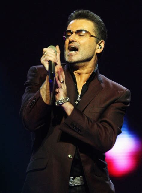 george michael george michael in george michael performs at earls court
