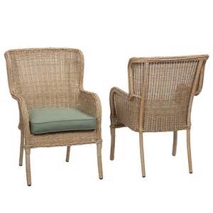 wicker patio dining chairs hton bay lemon grove stationary wicker outdoor dining