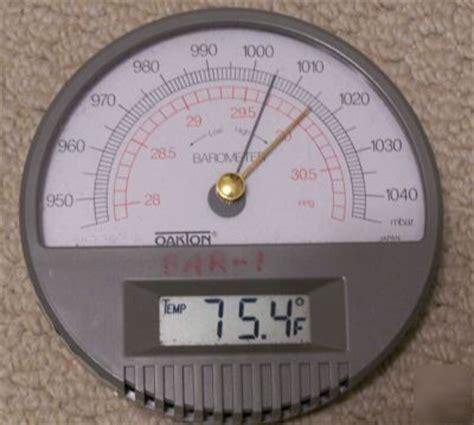 oakton wall barometer  digital thermometer