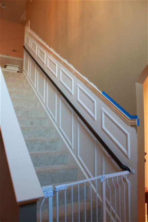 Chair Rail Up Stairs by The Staircase Makeover Decorchick
