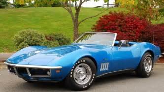 1969 corvette stingray convertible blue chevrolet