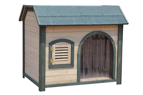 Weather Proof Garden Pooch Indoor Outdoor Dog House With Metal Brackets