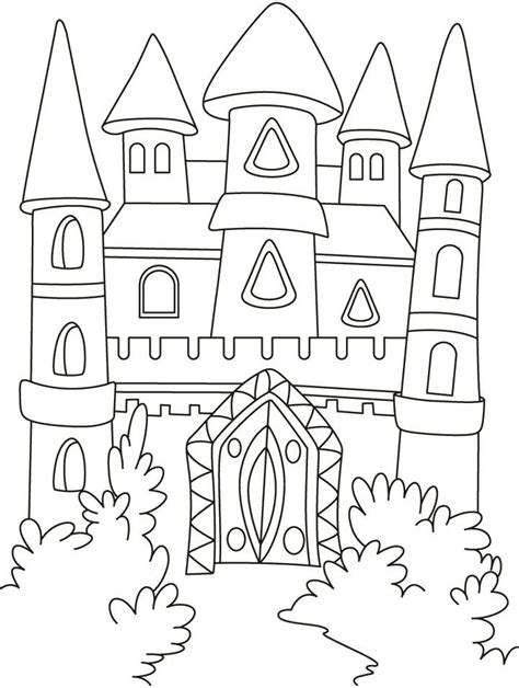 55 best Castles Dragons Knights Coloring Pages images on