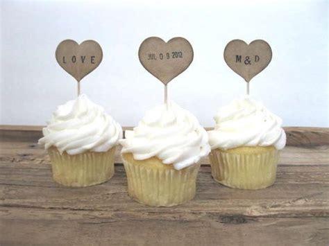 bridal shower cupcake toppers picks wedding cupcake toppers 12 kraft personalized cupcake