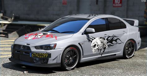 mitsubishi evo modded mitsubishi lancer evolution x fq 400 skull tribal paintjob