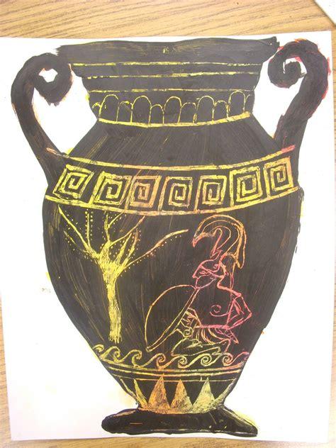 Ancient Greek Vases For Kids Artastic Miss Oetken S Artists Going Greek Scratch Into