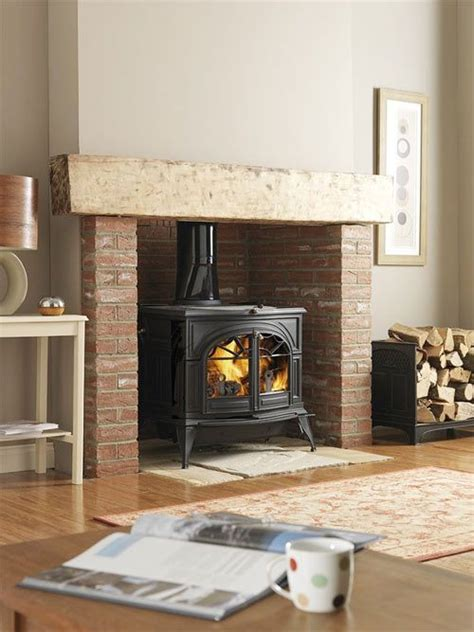 Fireplace With Wood Burner by This Woodburning Stove Instead Of A Fireplace