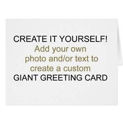 create it yourself greeting card zazzle