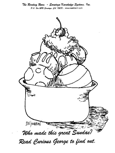 coloring page of an ice cream sundae ice cream sundae coloring page coloring home