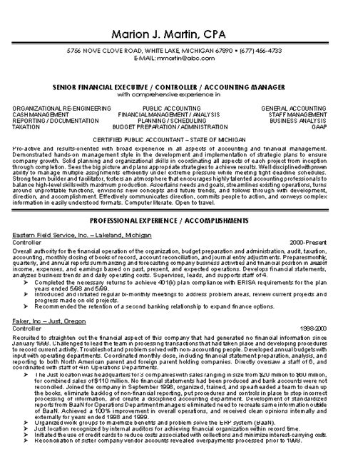Sample Resume Of A Cpa – Free Certified Public Accountant (CPA) Services Director