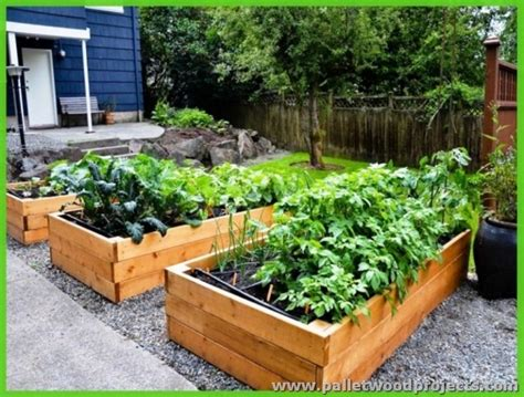 pallet raised bed pallet raised garden beds pallet wood projects