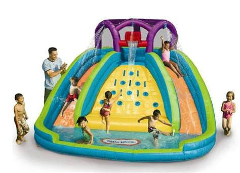 Backyard Inflatable Water Park Little Tikes Rocky Mountain River Race