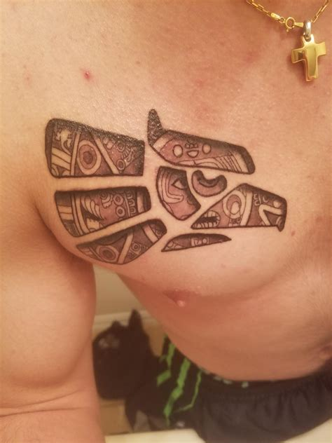 mexican aztec tattoos made in mexico eagle with aztec calendar