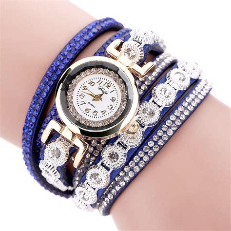 Jam Tangan Swiss Army 206 jam tangan wanita model gelang rhinestone dy038 white