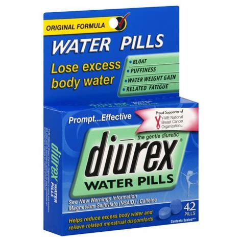 Do Water Pills Help Detox by Diurex Water Pills Original Formula 42 Pills Health