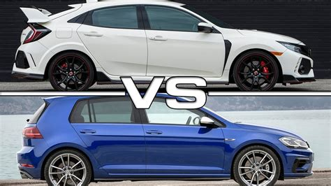 type r volkswagen 2018 honda civic type r vs 2018 volkswagen golf r
