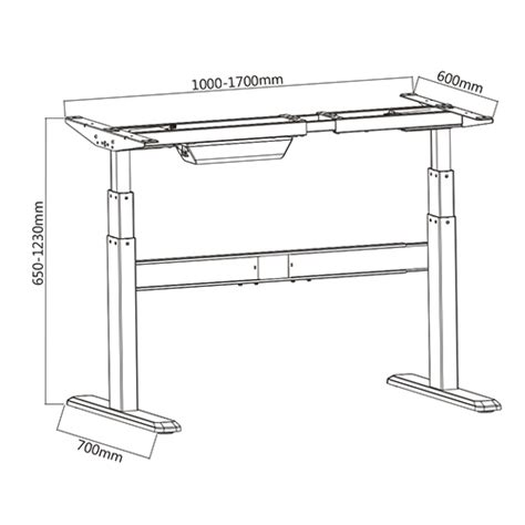 escritorios de pie inteligentes certificado regulable en altura mesa de