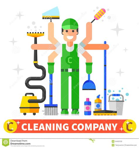 cleaning company cleaning company stock vector image of duster house