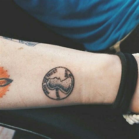 simple tattoo 4 u penny tattoo by the tinytattooist dotwork handpoked