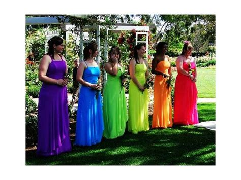 rainbow colored dresses 208 best rainbow wedding trends images on