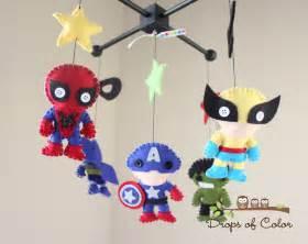 Marvel Room Decor Baby Mobile Baby Crib Mobile Super Hero Mobile Nursery