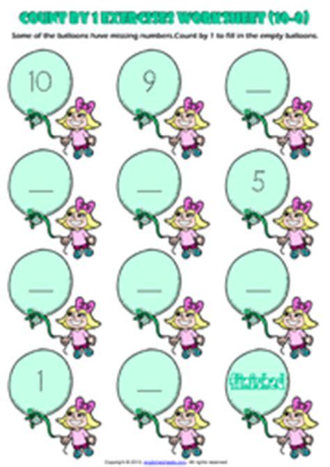 Counting Backwards Worksheets Grade 1 by Grade 1 Counting Printable Maths Worksheets And Exercises
