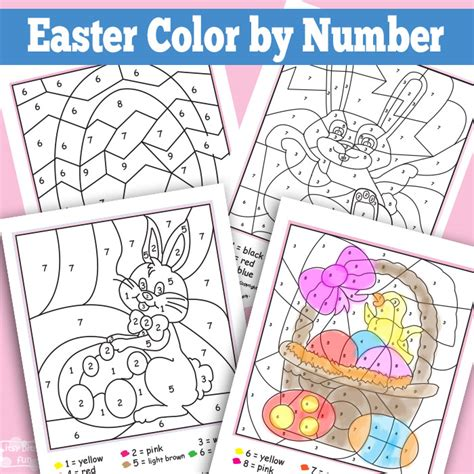 easter color by numbers coloring book for adults an easter humor coloring book for adults with easter bunnies easter eggs and only sweary coloring books volume 9 books easter color by numbers worksheets itsy bitsy