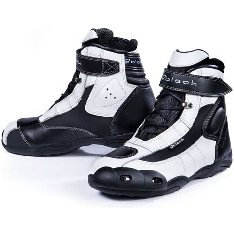 white motorbike boots black fc tech short motorcycle paddock boots ankle