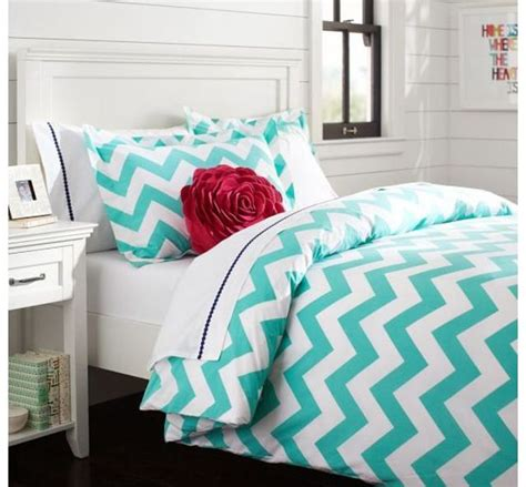 Teenage Duvet Sets Uk Pb Teen Turquoise Chevron Bedding Pb Teen Pinterest