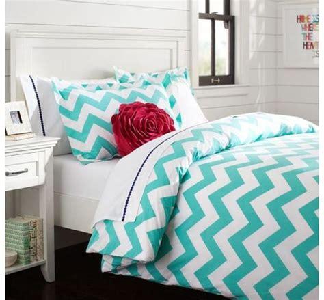 Teen turquoise chevron bedding pb teen pinterest chevron bedding